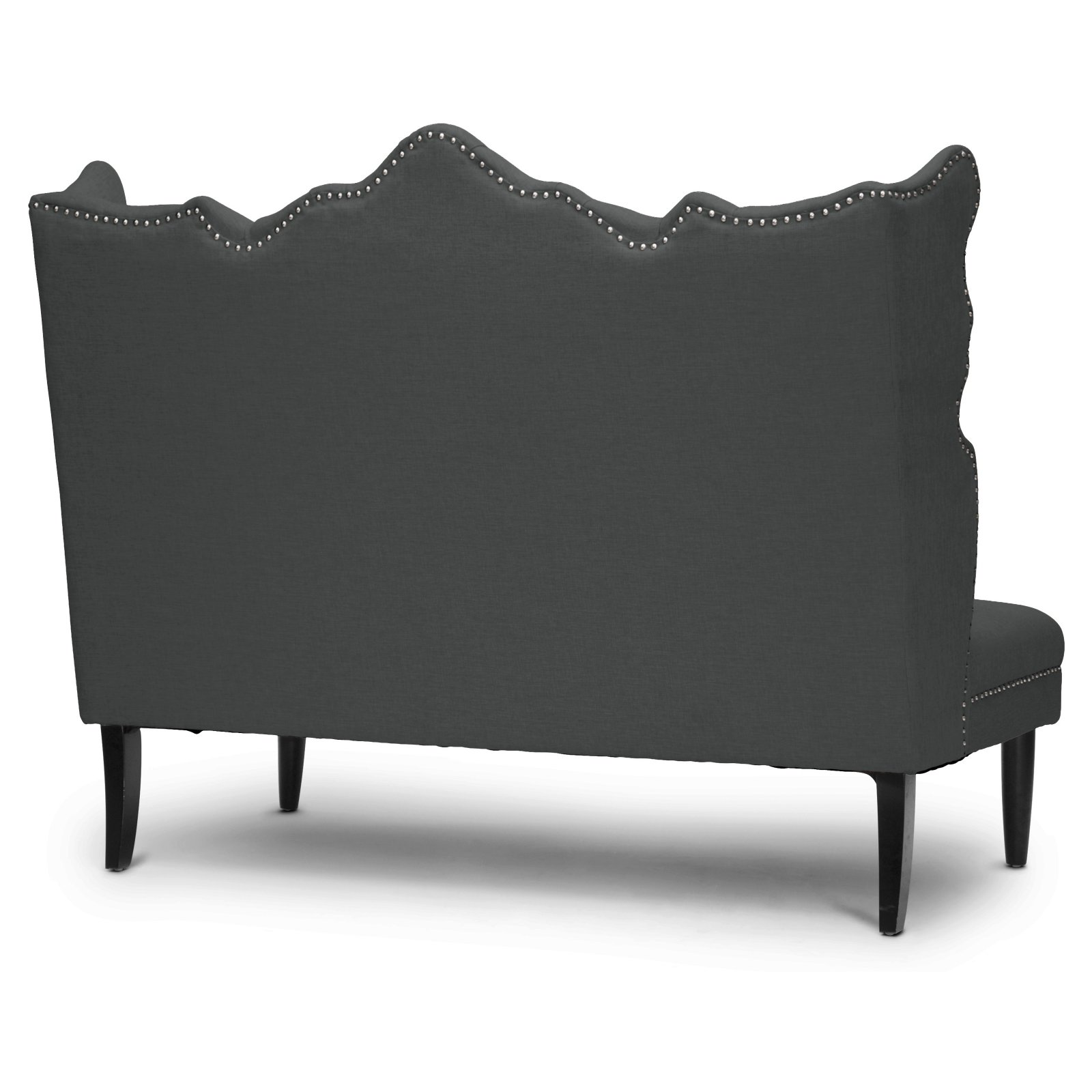 Cool Witherby Gray Linen Modern Dining Banquette Bench Onthecornerstone Fun Painted Chair Ideas Images Onthecornerstoneorg