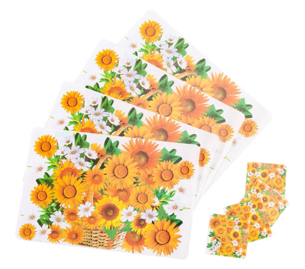Sunflower Placemats Coasters Set Of 4 Walmart Com Walmart Com
