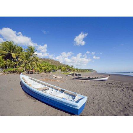 Fishing Boats on the Beach at Playa Sihuapilapa, Pacific Coast, El Salvador, Central America Print Wall Art By Christian Kober - Halloween Parties Central Coast
