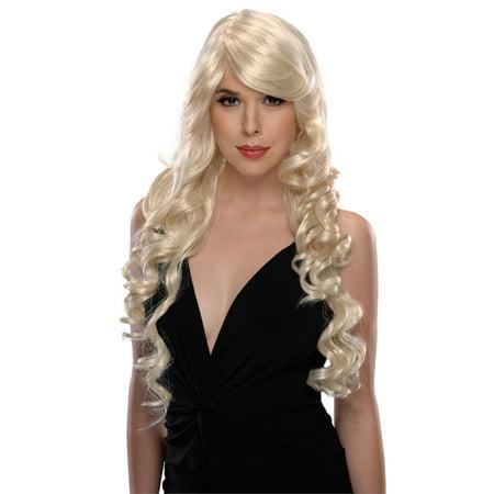 Angel Long Banana Curls Costume Wig Assorted Colors - - Charlies Angels Wigs