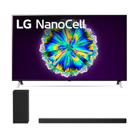 LG 55NANO85U 55 Real LED NanoCell Display Smart Nano 85 Ultra HD 4K TV with a LG SN6Y 3.1 Channel DTS Virtual High Resolution Soundbar and Subwoofer (2020)