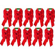Red Velvet Christmas Bow 9-inch X 16-inch, 20 Pack of Holiday Bows