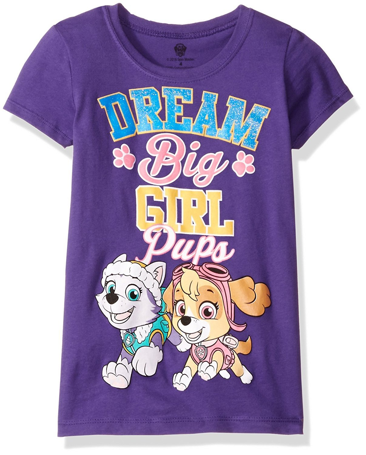Nickelodeon Little Girls' Paw Patrol Toddler Girls Short Sleeve T-Shirt