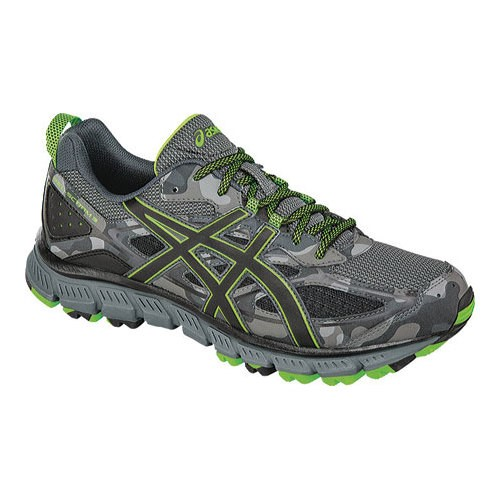 ASICS ASICS Men's Gel Scram 3 Trail Runner, CarbonBlackGreen Gecko, 14 M US