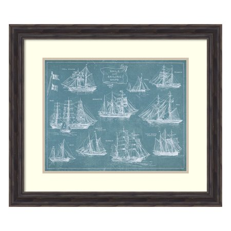 Wild Apple Portfolio 'Sailing Ships' Framed Art Print