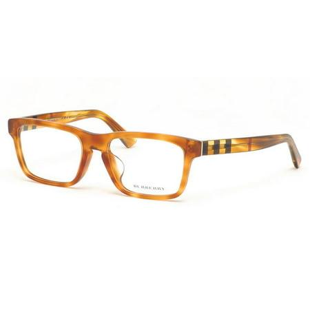 08c5e0978e0f Burberry BE2226F-3605 Rectangle Men's Light Havana Frame Genuine Eyeglasses  NWT - Walmart.com