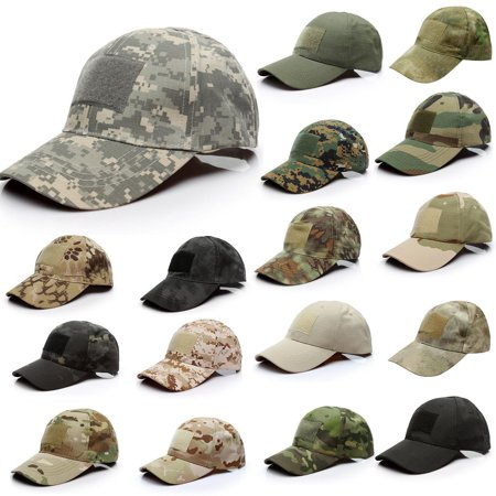 Military Tactical Operator Patch Caps Special Forces Camo Cotton Low Crown Structured Hats with Velcro Patch Panels