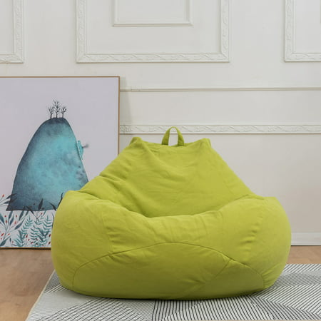 NK SUPPORT Junior Bean Bag Chair, Furniture for Kids, Perfect for Reading,Alternative Seating Cover for Home Cotton Linen Fabrics Lounger Cover