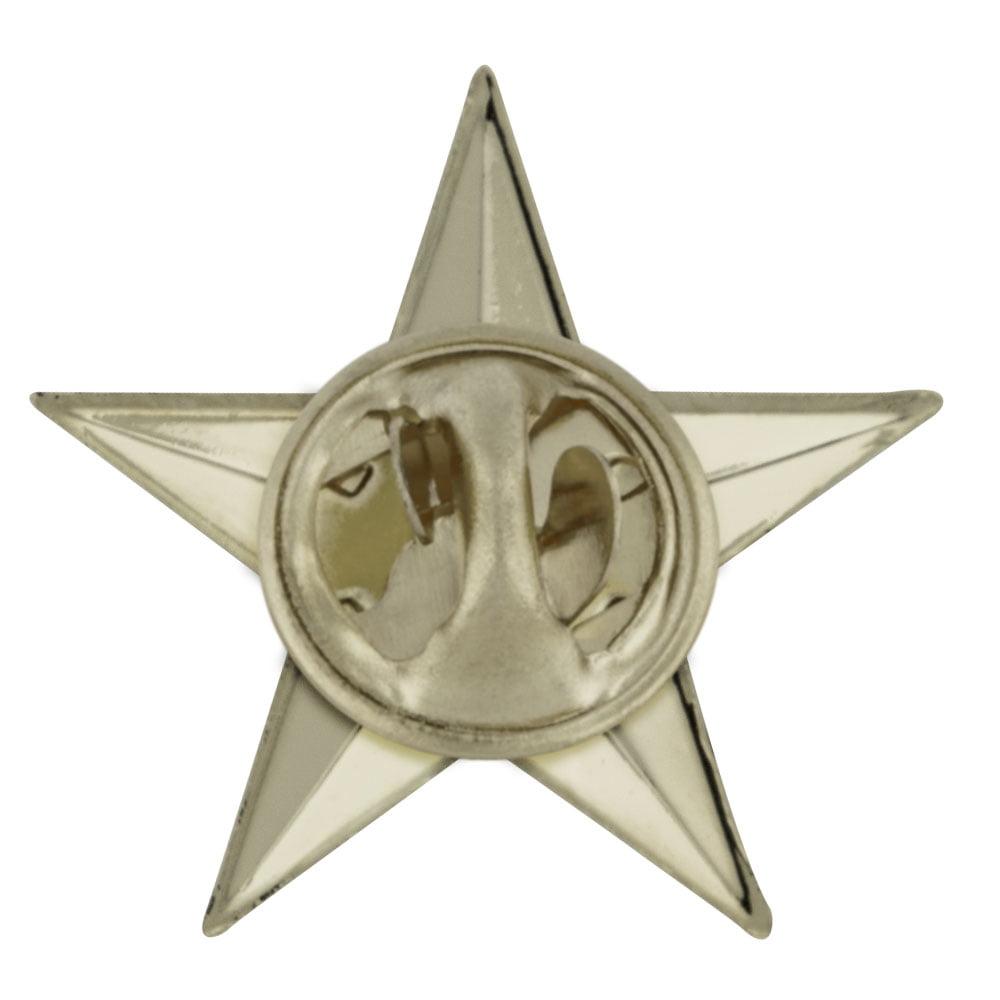 a65aa41eec2 PinMart - PinMart's Military 3D 5 Point Silver Star Lapel Pin - Walmart.com