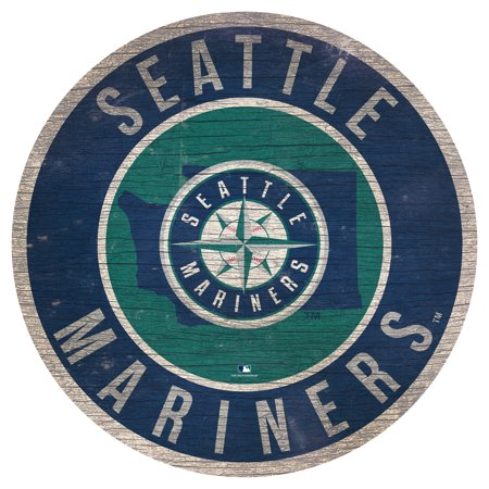 Seattle Mariners 12'' x 12'' State Circle Sign - No Size