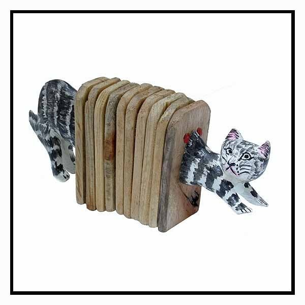 Stoneage Arts Handmade Accordion Shaker Cat (Kenya)