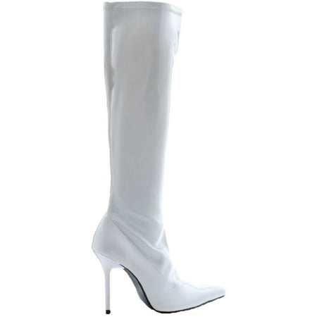 Halloween Event At Ix Center (White Emma Knee Women Adult Halloween Patent Boots Costume Accessory - Size)