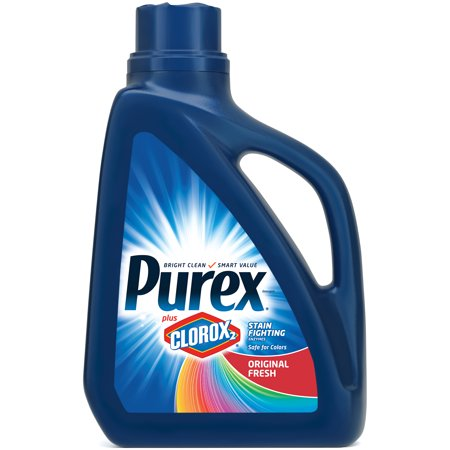 Purex Liquid Laundry Detergent plus Clorox 2 Stain Fighting Enzymes, Original Fresh, 65 Fluid Ounces, 36 Loads