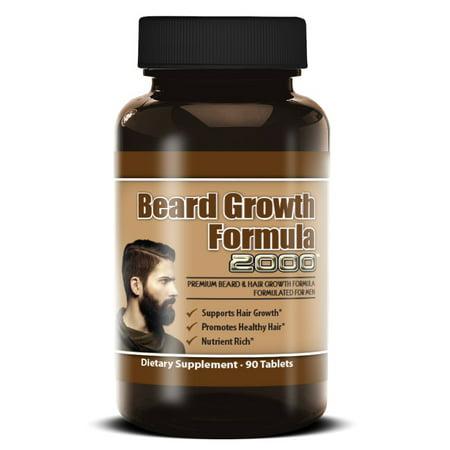 Beard Growth Formula 2000 Facial Hair Growth Beard Growth Supplement  Vitamin Grow a Fuller Thicker Beard 90 Tablets
