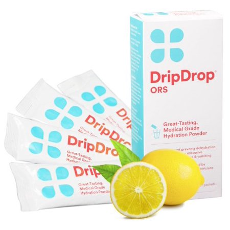 Powder Measure Drop Tube (Drip Drop Hydration Powder Pack 21gm Lemon 4 Count Each)