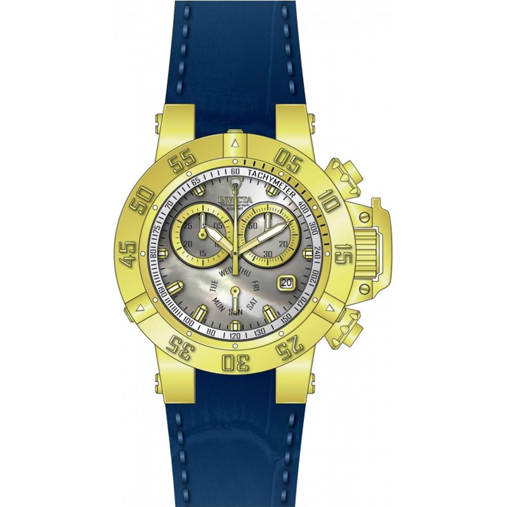 Invicta Women's Gabrielle Union Blue Leather Band Steel C...