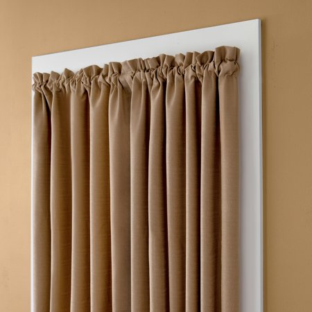Curtains Ideas curtain rod no holes : Eclipse No Tools Room Darkening Blackout Wrap Curtain Rod ...