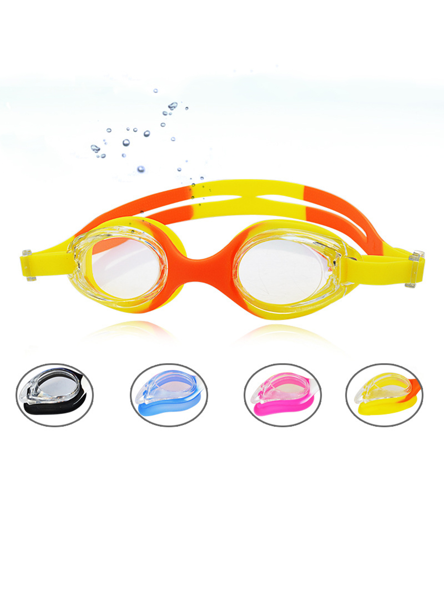 Anyprize Anti-fog Swimming Goggles for Kids, Waterproof Swim Goggles with Transparent Lens for Child, Comfortable... by