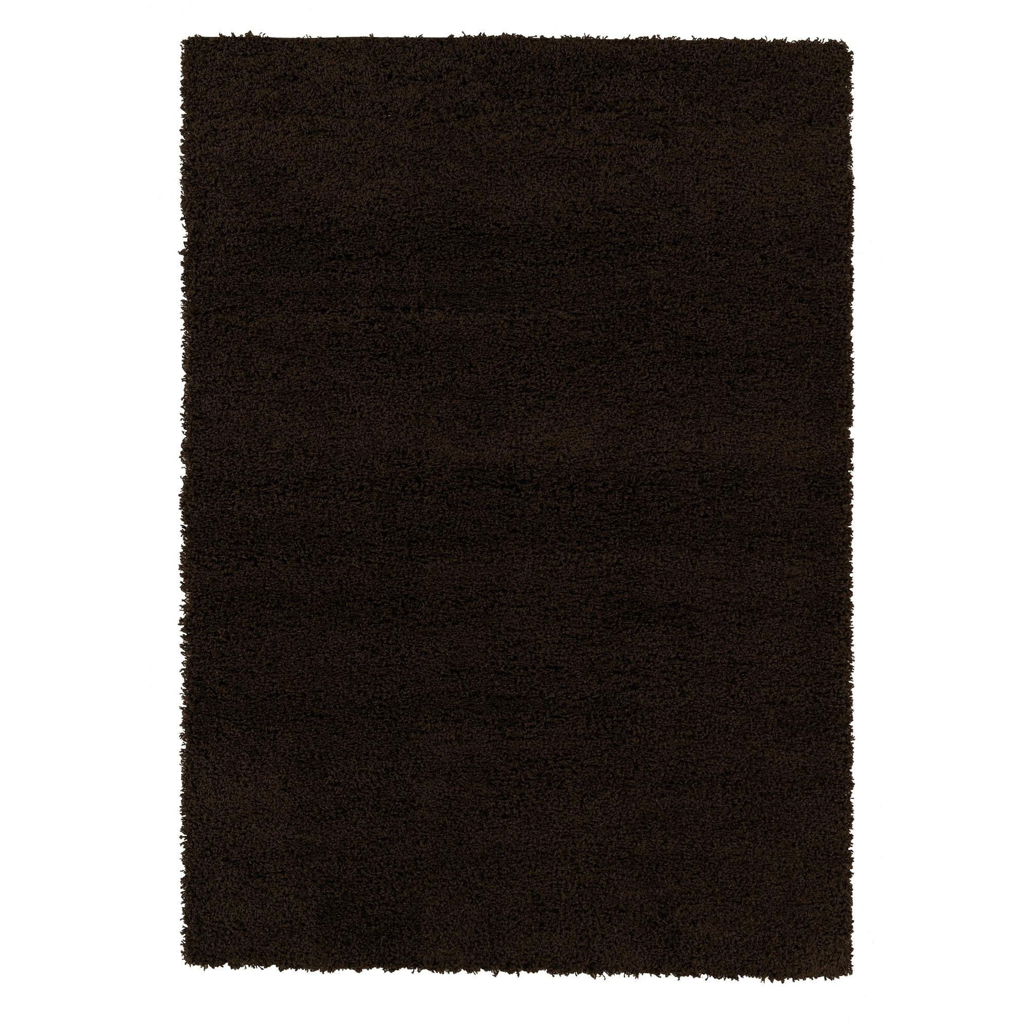 "Berrnour Home Berrland Solid Plush Soft Shag Living room & Bedroom Area Rug, 5'3"" X 7'0"", Navy"