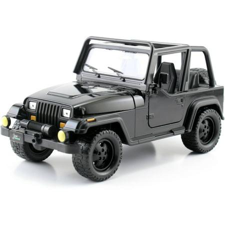 Metals 1 24 Jt 92 Jeep Wranger  Black