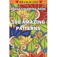 100 Amazing Patterns : An Adult Coloring Book with Fun, Easy, and Relaxing Coloring Pages (Paperback)