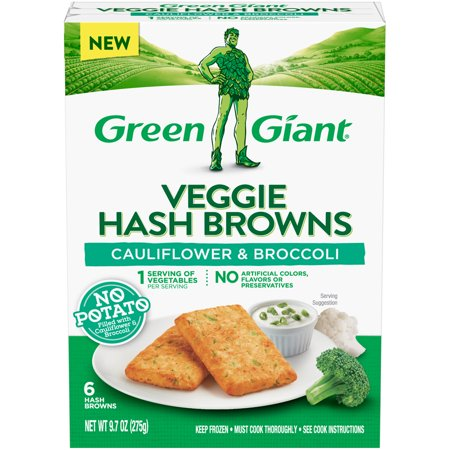 Green Giant Cauliflower & Broccoli Veggie Hash Browns, 6 count, 9.7 oz