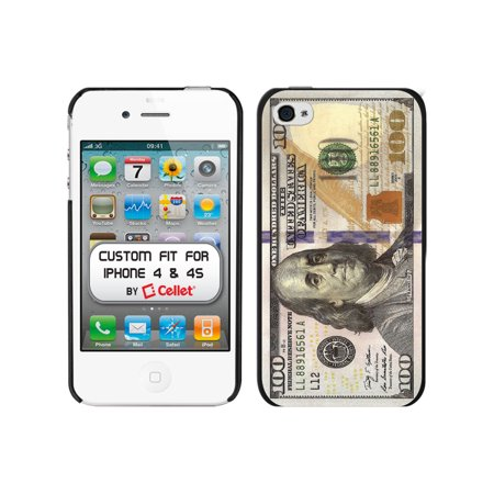 Dollar Bill Cake (Cellet Black Proguard Case with New $100 / Hundred Dollar Bill for Apple iPhone 4 &)