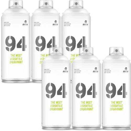Montana MTN 94 Series 400ML R9010 WHITE Spray Paint (6-Cans)