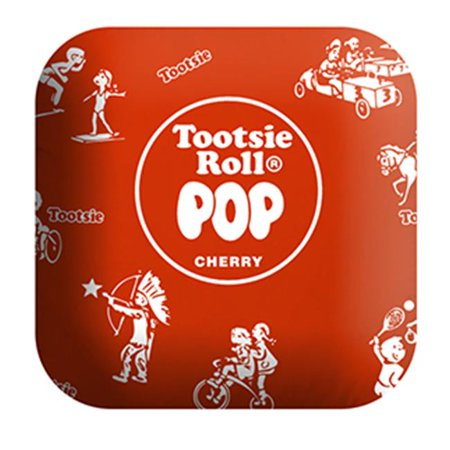 Tootsie Roll PIL-TR-RWRAP 14 in. Large Plush Red Tootsie Roll Pop Candy Pillow - image 1 of 1