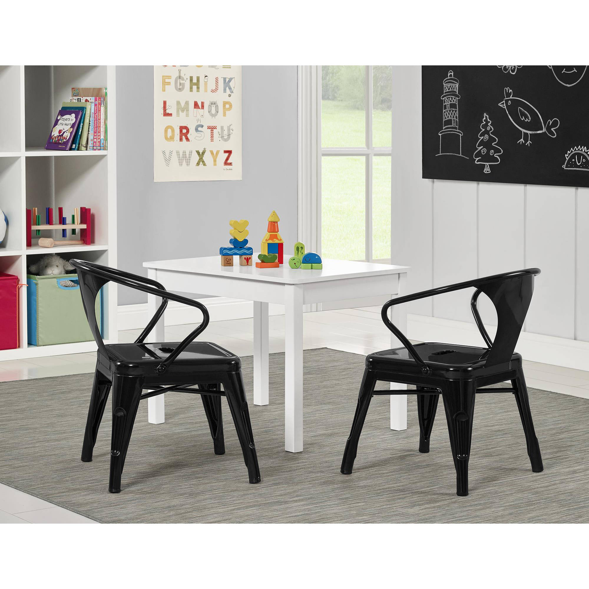 Better Homes and Gardens Metal Kids Chair, Set of 2, Multiple Colors