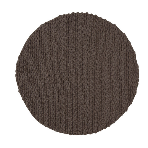GAN RUGS Trenzas Brown Area Rug