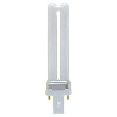 GE Lighting 97560 T4 Low Wattage Compact Fluorescent Lamp 9 Watt 2-Pin G23 Base 600 Lumens 82 CRI 3500K 30 Watt Incandescent Ecolux Biax
