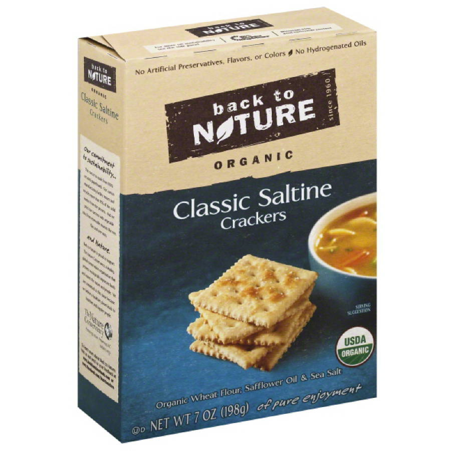 Back to Nature Organic Classic Saltine Crackers, 7 oz, (Pack of 6)