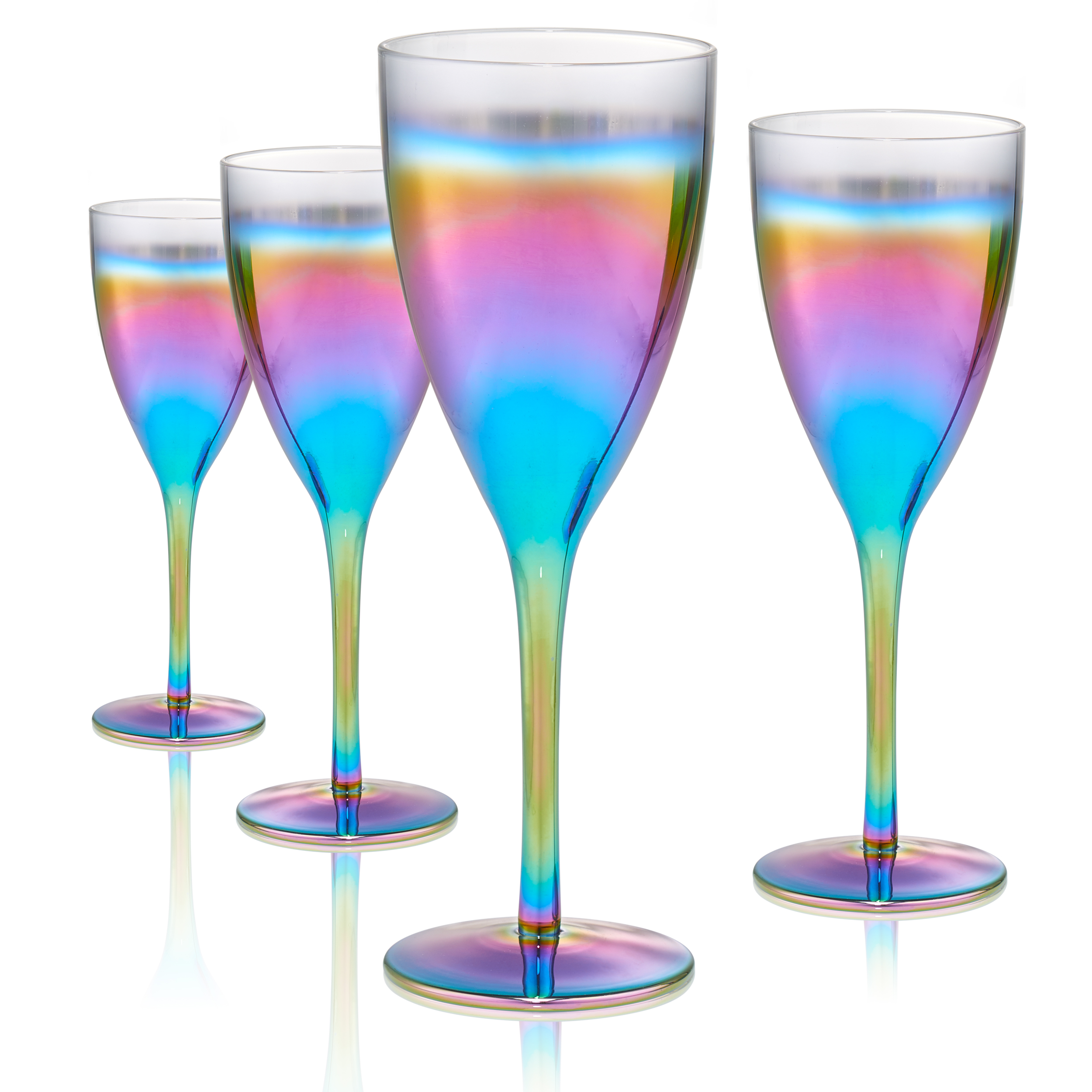 Artland Rainbow Goblet S/4, 14Oz