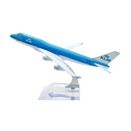 TANG DYNASTY(TM) 1:400 16cm Boeing B747-400 KLM Metal Airplane Model Plane Toy Plane Model