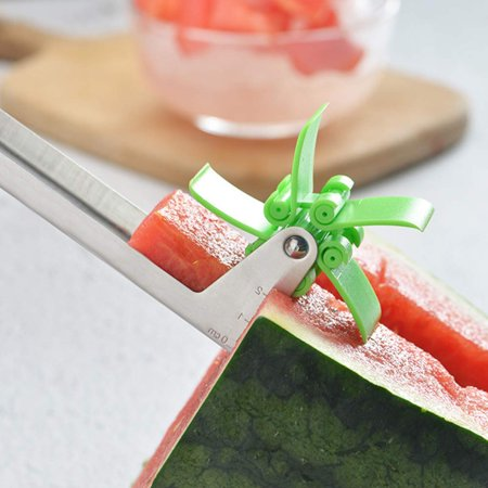 Watermelon Windmill Cutter Slicer, Stainless Steel Melon Cuber Knife,New Kitchen Gadgets Stainless Steel One Step Cutter Watermelon Cubes Slicer and Corer - image 4 of 7