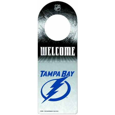 NHL Tampa Bay Lightning Wood Door - Tampa Halloween Stores