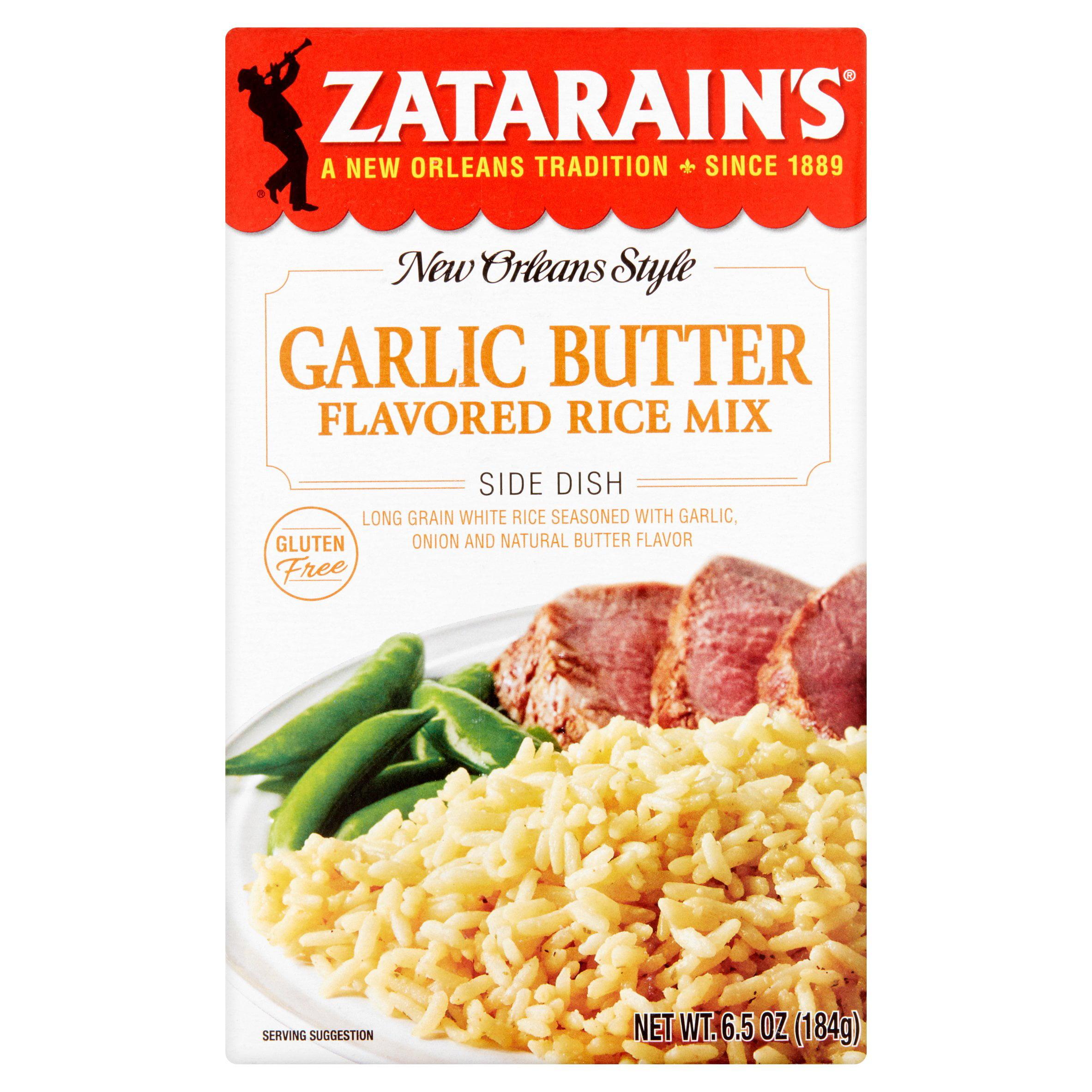 Zatarain's�� Garlic and Butter Rice Mix, Gluten Free, 6.5 oz. Box
