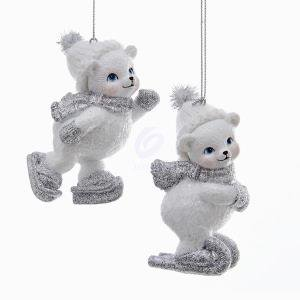 1 Set 2 Assorted White and Silver Angels with Fluffy Wings Ornaments Assorted Angels Ornament