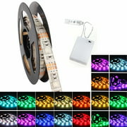 LED Strip Light, 50-200CM Flexible LED Strip Light kit Color Changing IP65 Waterproof Christmas Decorative Flexible With DC4.5V Battery Box Power