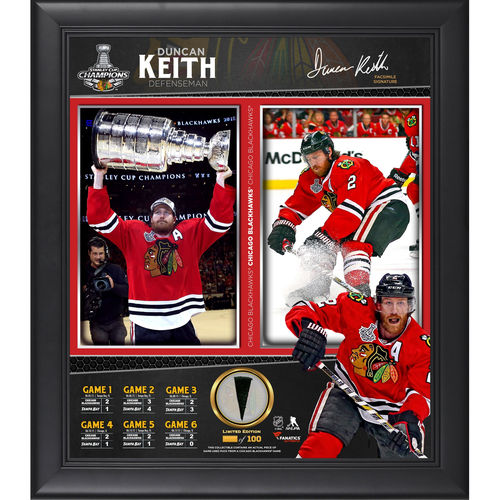 Duncan Keith Chicago Blackhawks 2015 Stanley Cup Champions Framed 15'' x 17'' Collage with Piece of Game-Used Puck - Limited Edition of 199 - No Size 793389945887