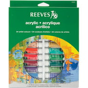 Reeves Assorted Colors Acrylic Paint Set, 24Pk
