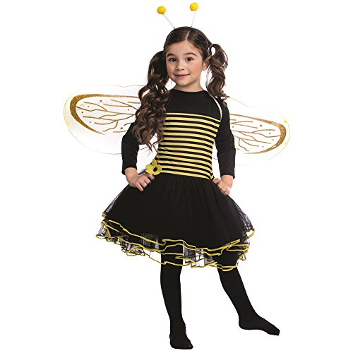 Dress Up America Bumblebee Dress Costume Set - Size Toddler 4