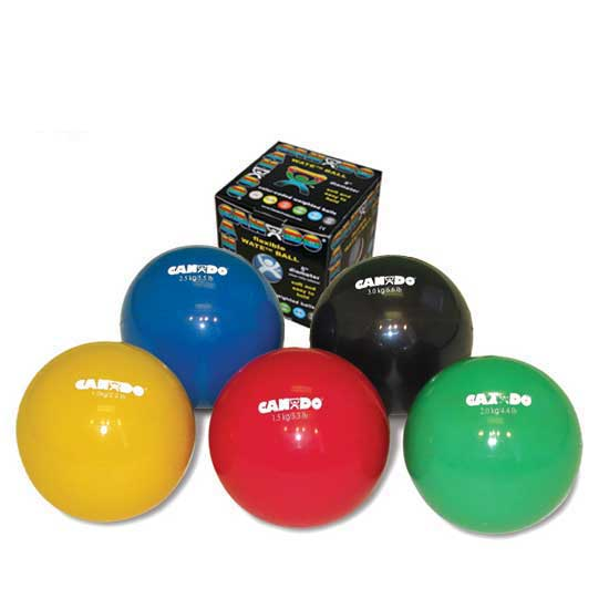 "CanDo Yellow Plyometric Weighted Ball, 5"" Diameter, 2.2 lbs Weight Capacity"