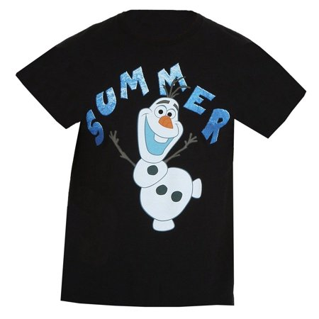 Disney Frozen Olaf Summer Mens Black T-Shirt | S - Summer Olaf