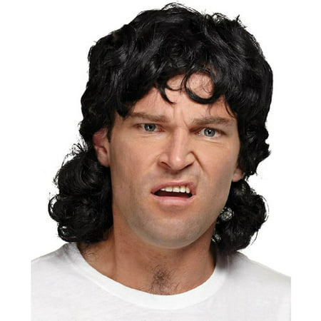 Mullet Adult Halloween Wig - Black Long Hair Wigs Halloween