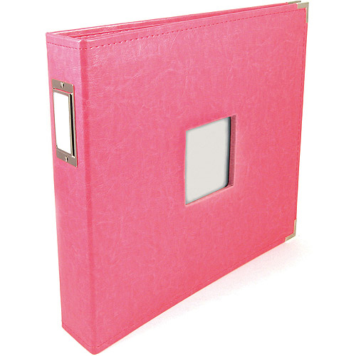 "We R Classic Leather Window 3-Ring Binder Album, 12"" x 12"""