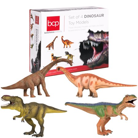 Best Choice Products 13 Realistic Dinosaur Action Figures Pack of 4 Jumbo Plastic Assorted Dinosaur Figures - Realistic Dinosaur