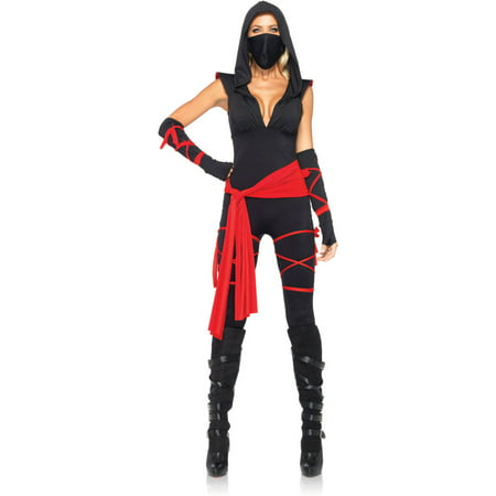 Leg Avenue Deadly Ninja Adult Halloween Costume - Black Ninja Boy Fighter Child Halloween Costume