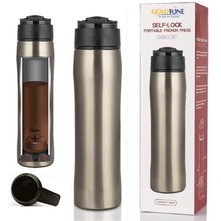 950dc55dbd3 GoldTone Brand Portable French Press Vacuum Insulated Travel Mug - Double  Walled French Press Tea/